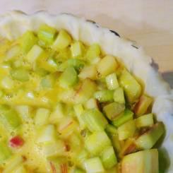 Rhubarb in pie